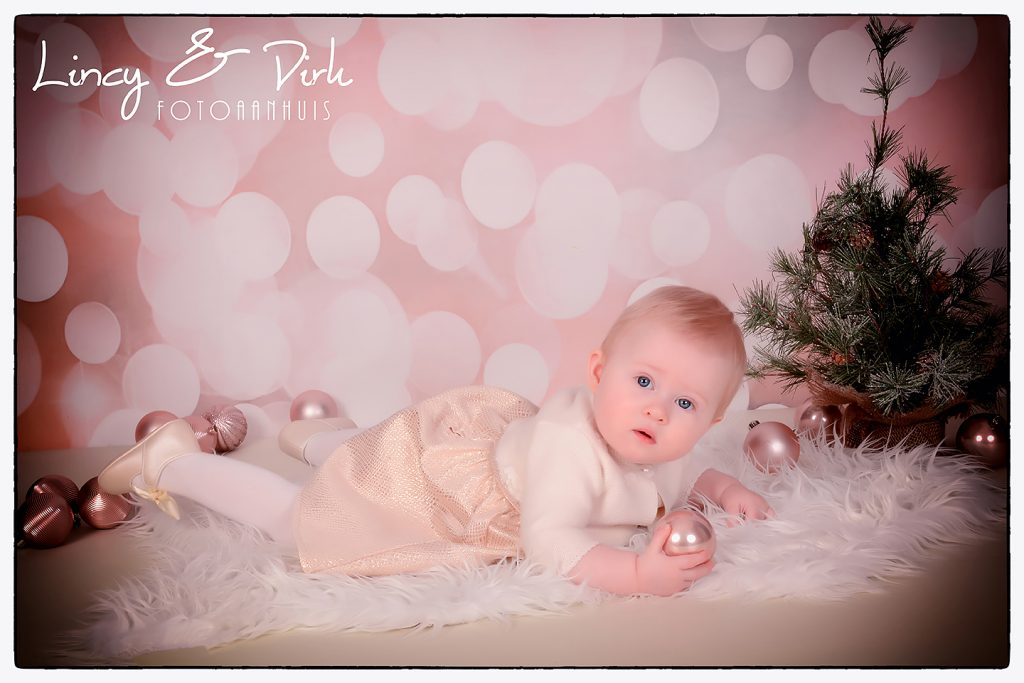 baby fotoshoot in studio kerst