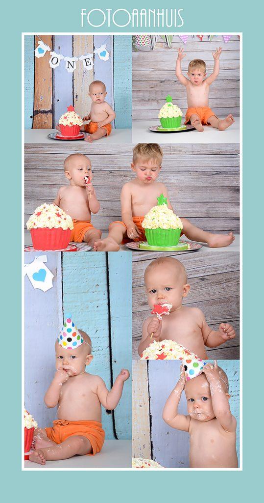 Smash Cake fotoshoot in Studio te Waregem (West-Vlaanderen) - kort bij Zulte (Oost-Vlaanderen)