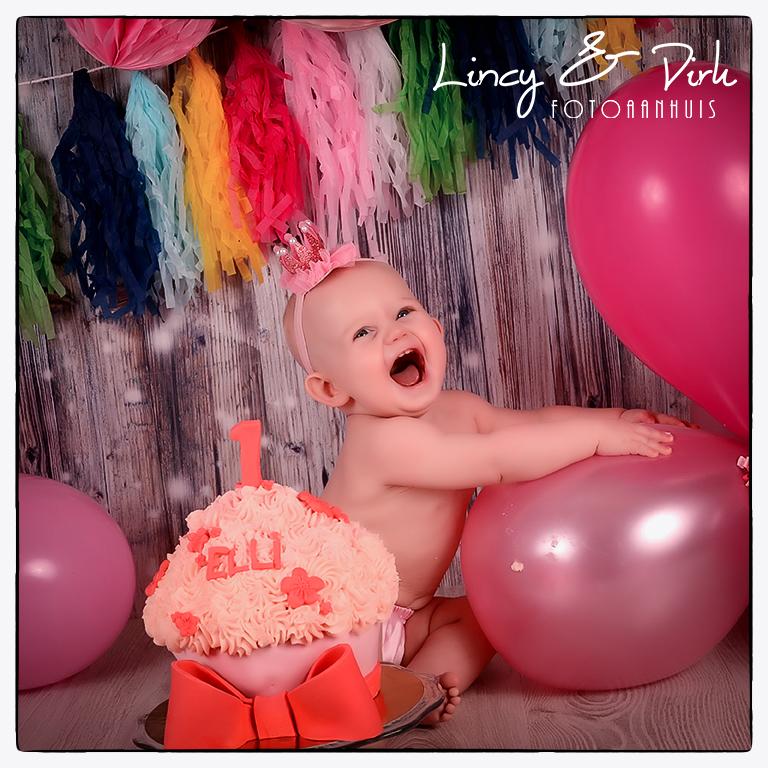 Smash Cake - baby fotoshoot - te Waregem (tussen Gent en Kortrijk)