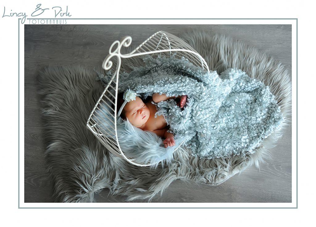 Originele newborn baby fotografie - professionele newbornshoot in onze fotostudio te Waregem (Tussen Gent en Kortrijk)