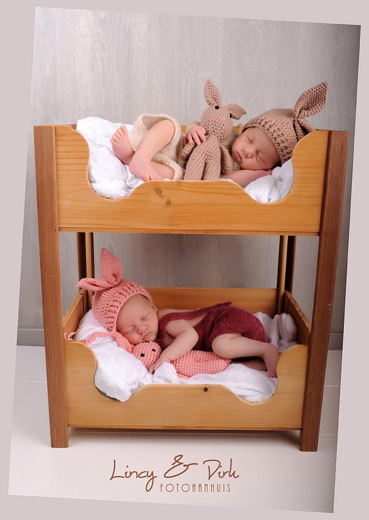 newborn tweeling fotoshoot