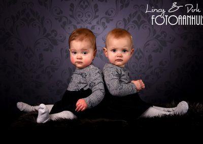 baby sitter verjaardag fotoshoot studio Portret Oost-vlaanderen tweeling