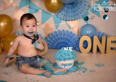 Cake Smash verjaardag baby taart Bissegem