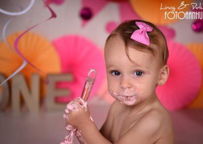 Cake Smash verjaardag baby taart Wevelgem