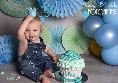 Cake Smash verjaardag baby taart Sint-Martens-Latem