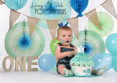 Cake Smash verjaardag baby taart Wielsbeke