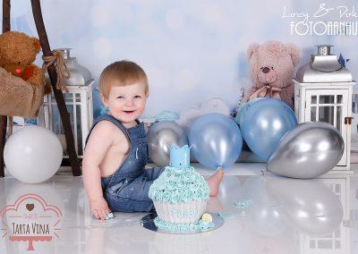 Kortrijk smash cake verjaardagshoot baby