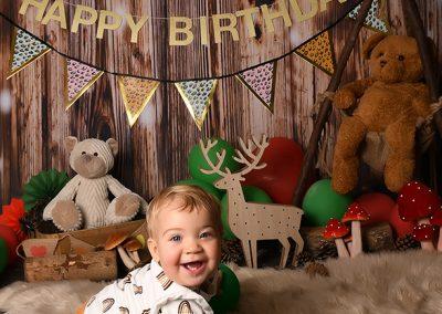 verjaardag verjaardagstaart smash cake jungle